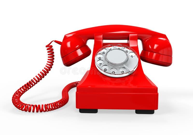 查出的电话葡萄酒 库存例证