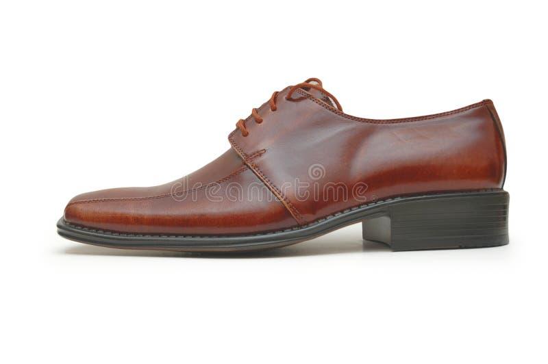 查出的男性鞋子 库存图片