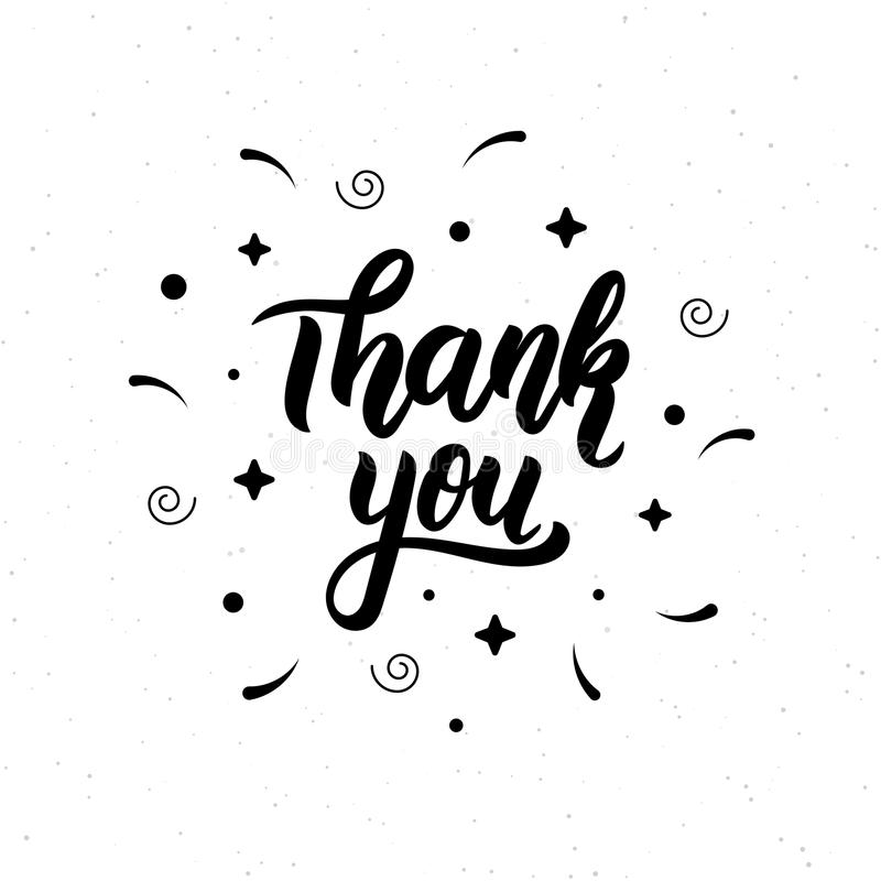 查出的看板卡礼品感谢白色您 时髦手字法行情、时尚图表、艺术印刷品海报的和贺卡设计 书法被隔绝的q 向量例证