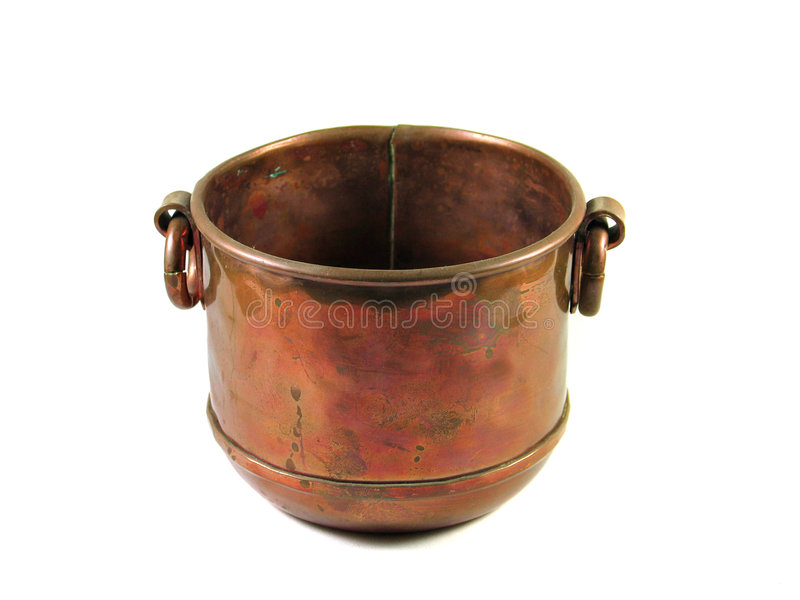 查出的碗铜装饰 库存图片