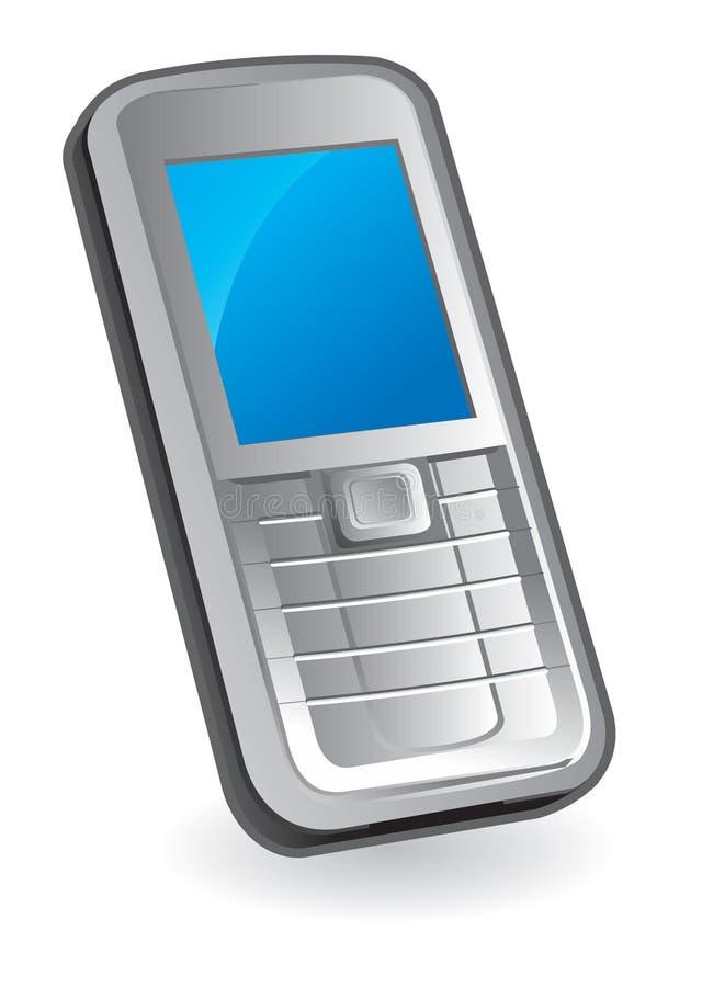 查出的移动电话白色 库存例证