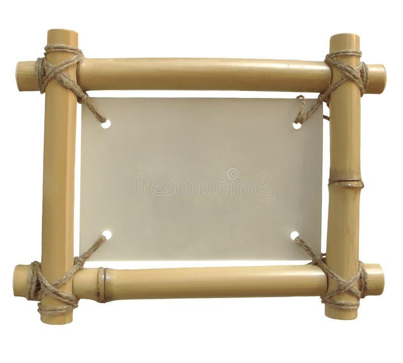 查出的竹框架 库存例证