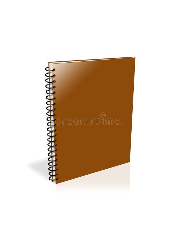 查出的笔记本白色 向量例证