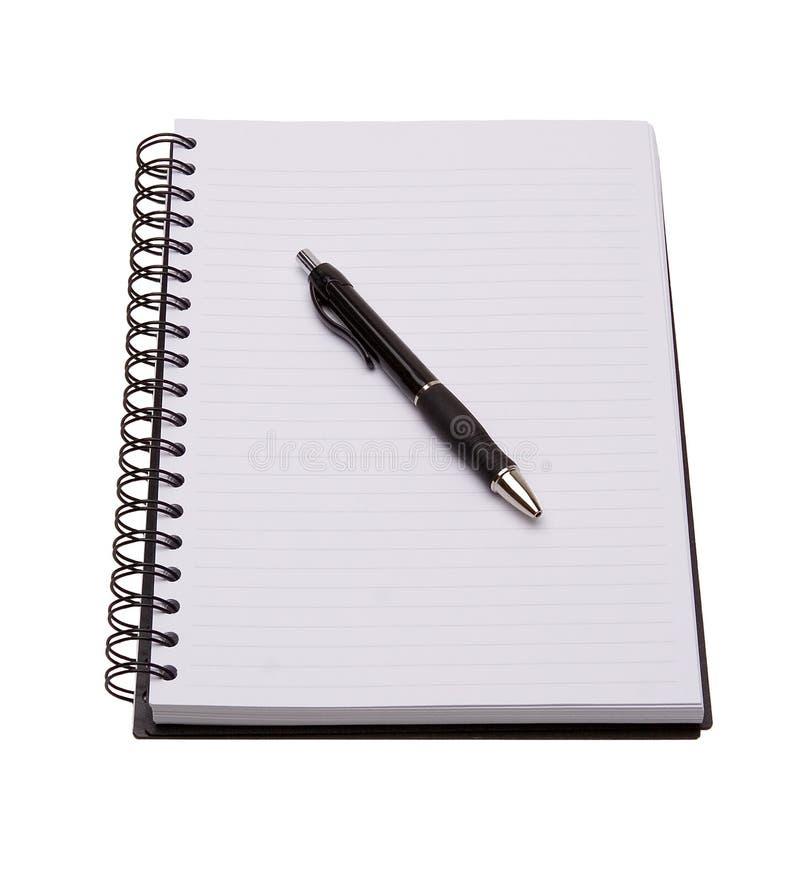 查出的笔记本笔白色 库存照片