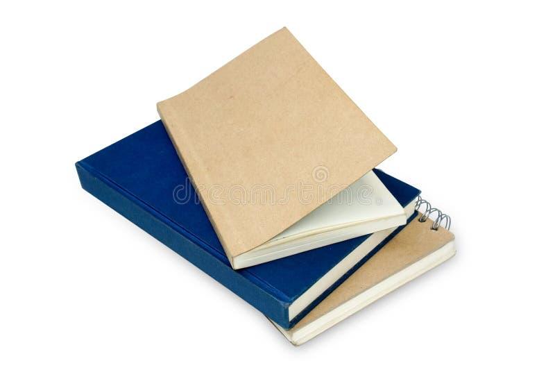 查出的笔记本纸张回收栈 免版税库存照片