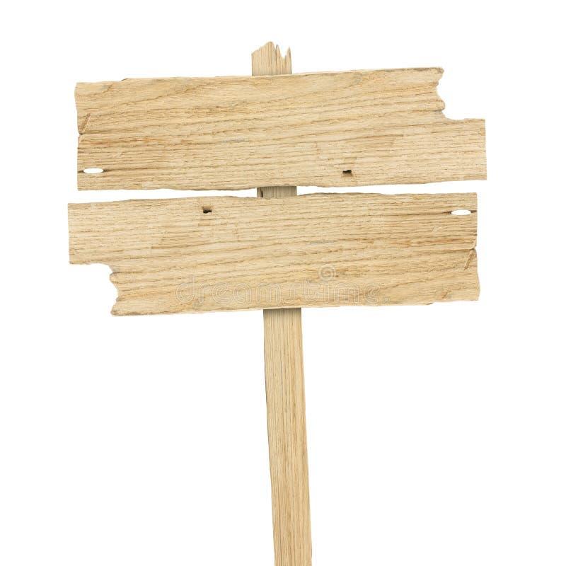 查出的符号空白木 木老板条标志 免版税库存图片