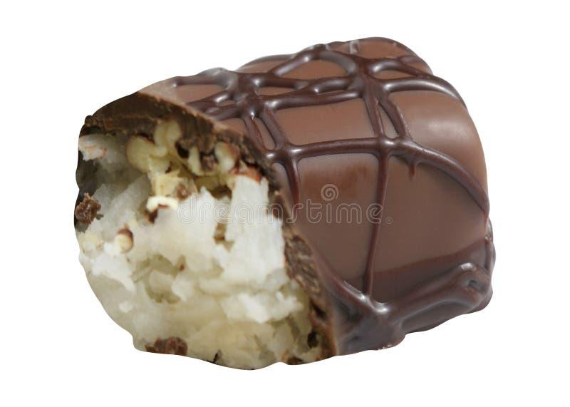 查出的糖果巧克力 免版税库存图片