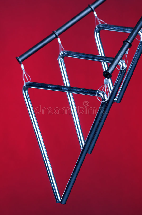 查出的红色三三角 免版税库存照片
