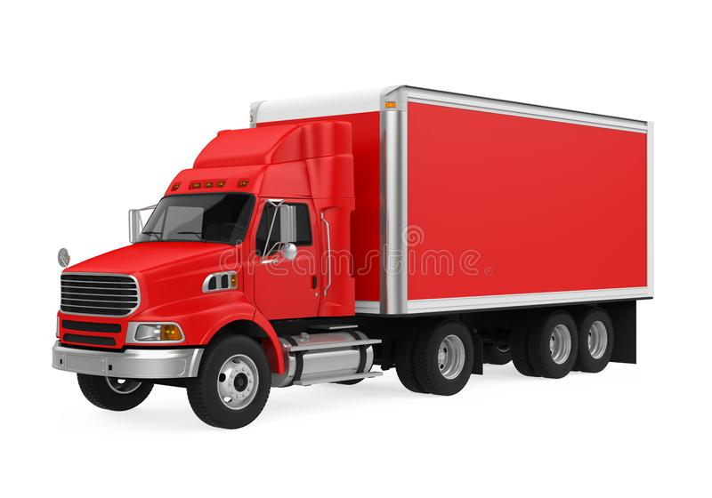 查出的红色卡车 皇族释放例证
