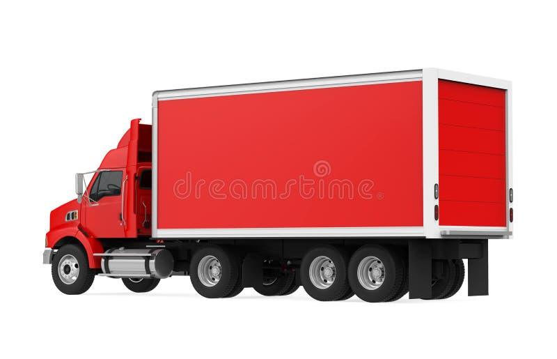 查出的红色卡车 库存例证