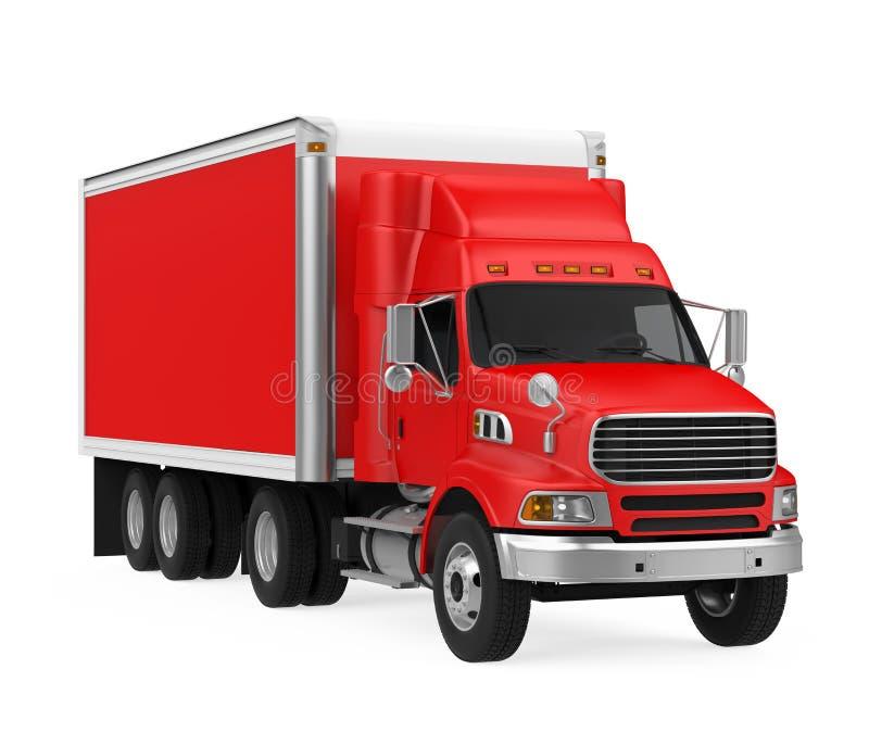 查出的红色卡车 向量例证