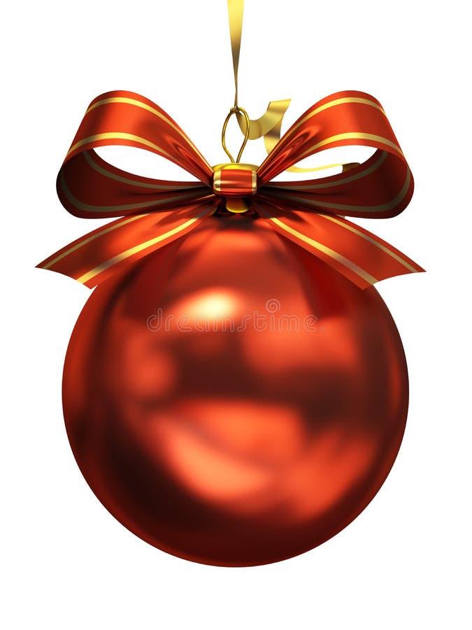 查出的红色圣诞节球 向量例证