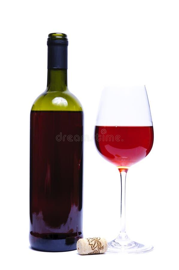 查出的红色白葡萄酒 免版税库存照片