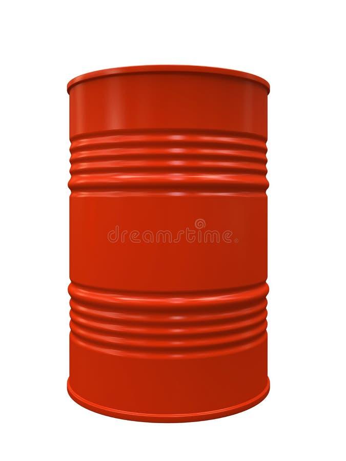 查出的红色金属桶 库存例证