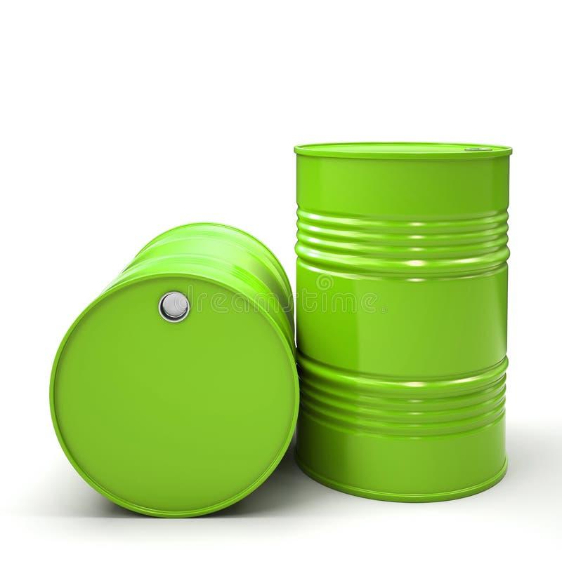 查出的绿色金属桶 皇族释放例证