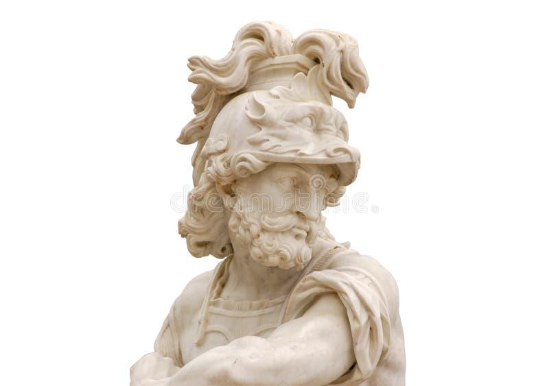 查出的罗马雕象 免版税库存照片