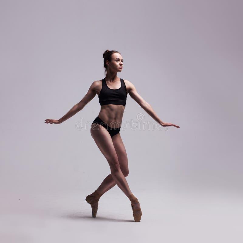 查出的美丽的跳芭蕾舞者 库存照片