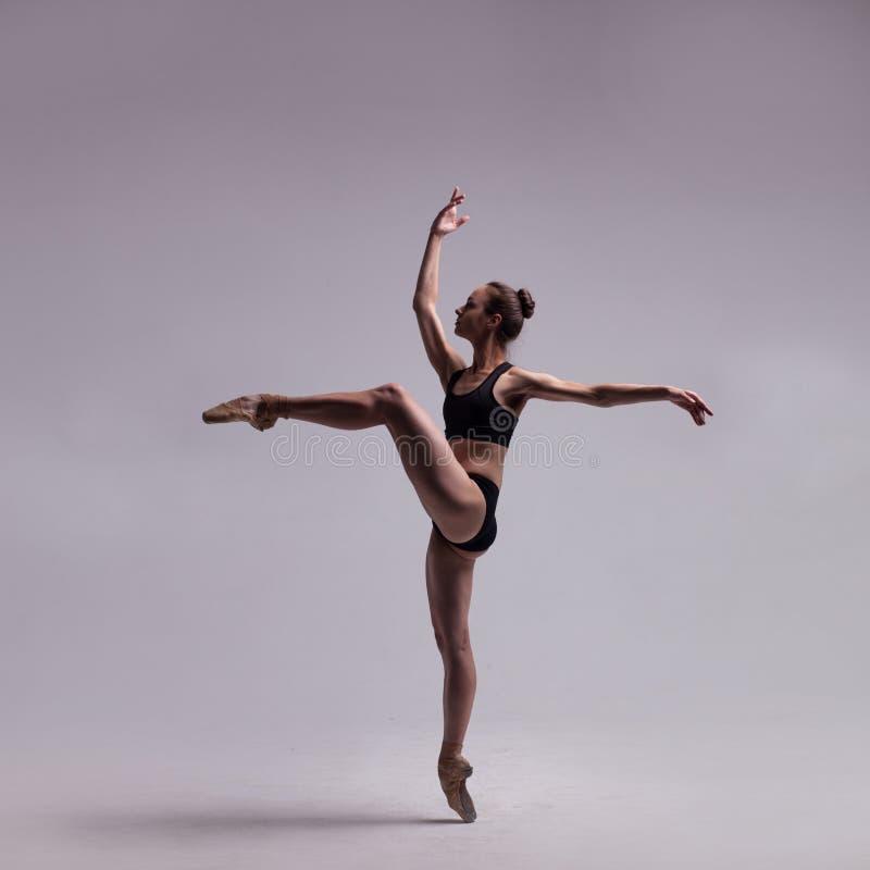 查出的美丽的跳芭蕾舞者 库存图片