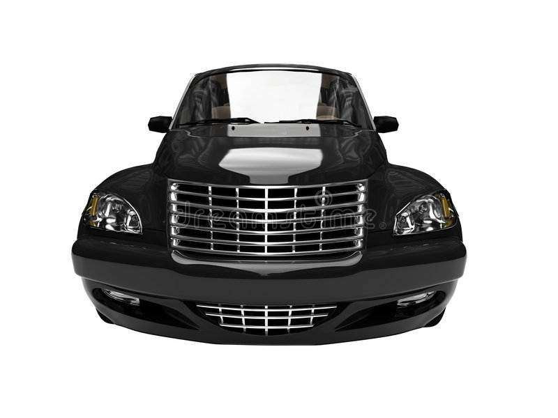 查出的美国黑色汽车 皇族释放例证
