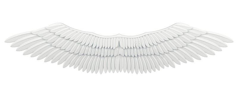 查出的翼 向量例证