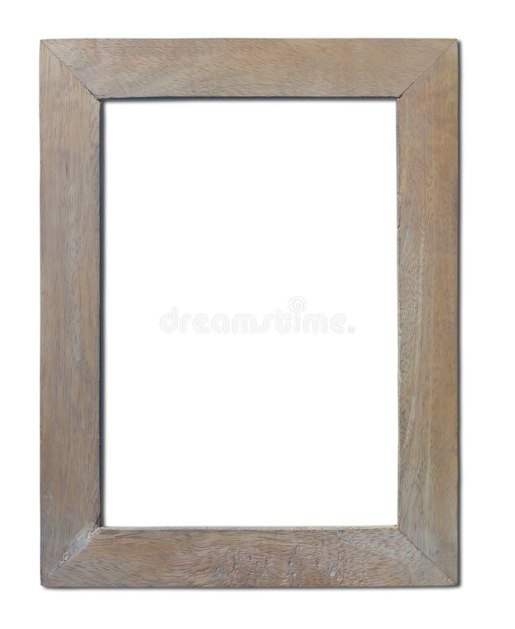 查出的老木制框架。 库存照片