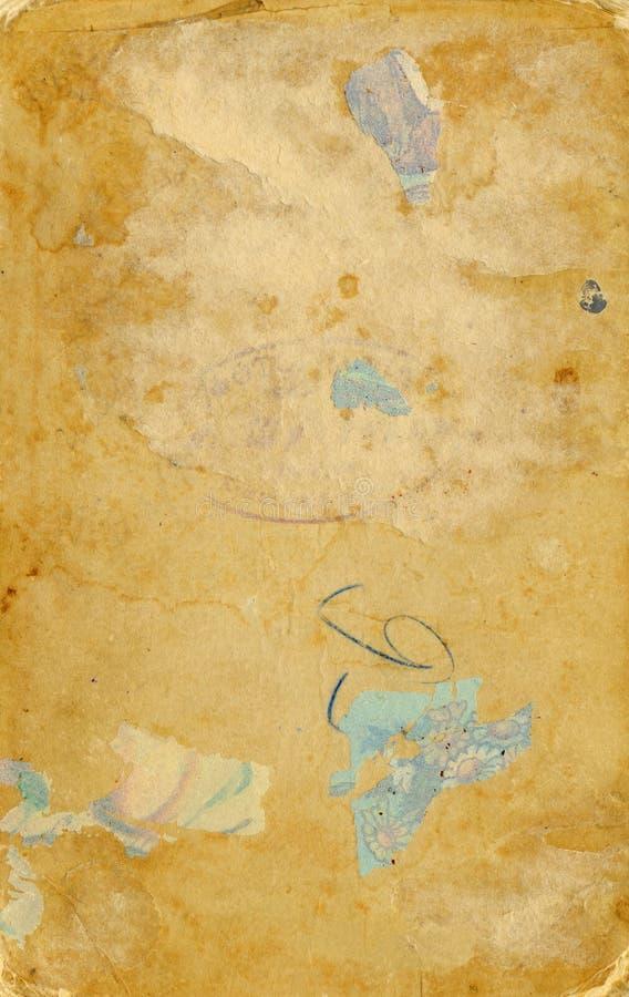 查出的老纸减速火箭的被剥去的葡萄&# 免版税库存照片