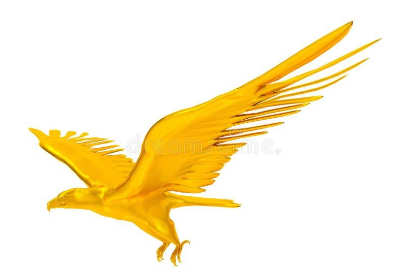 查出的老鹰金黄 皇族释放例证
