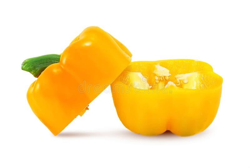 查出的胡椒甜白色 库存照片