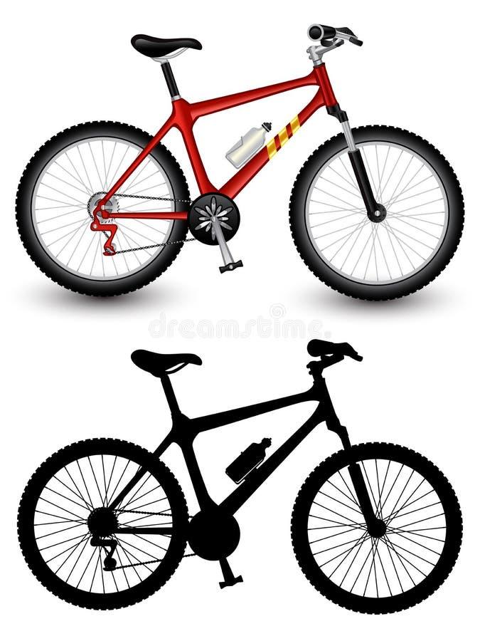 查出的自行车图象 向量例证