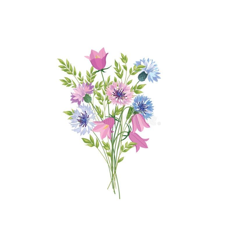 查出的花 花卉夏天花束 草甸自然装饰机智 皇族释放例证