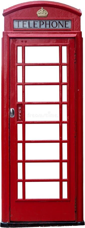 查出的英国电话亭 免版税库存图片