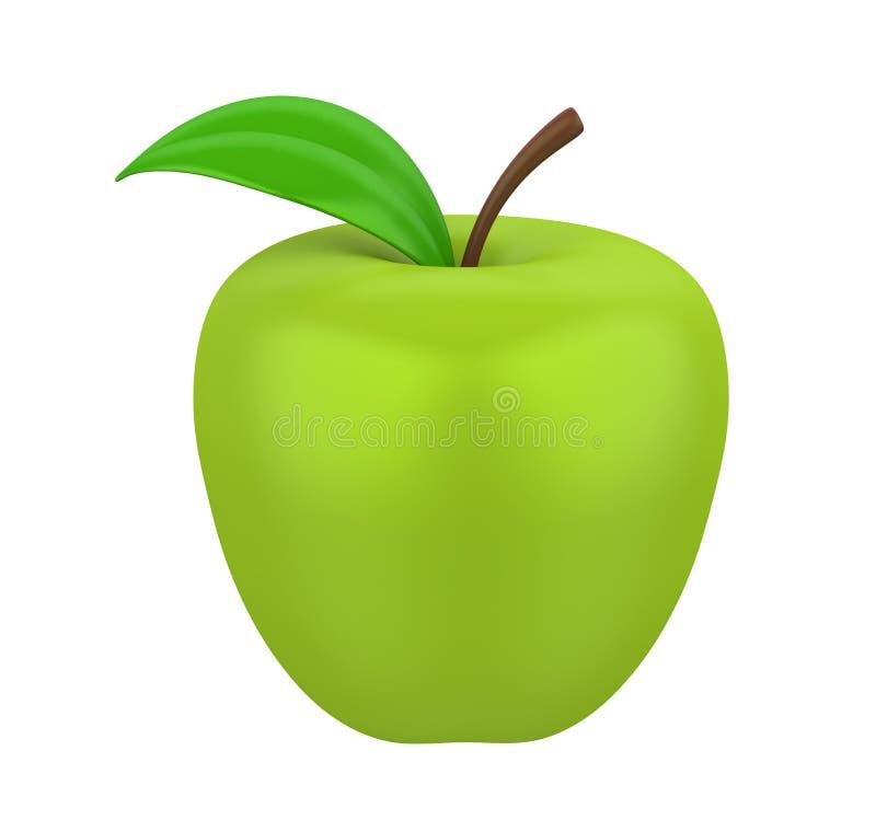 查出的苹果绿 皇族释放例证