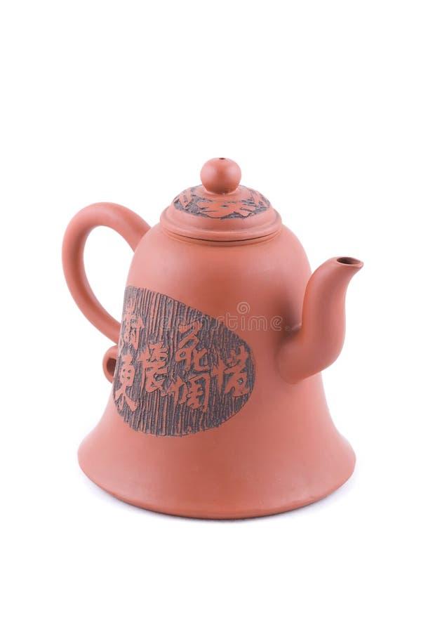 查出的茶壶白色 免版税库存照片