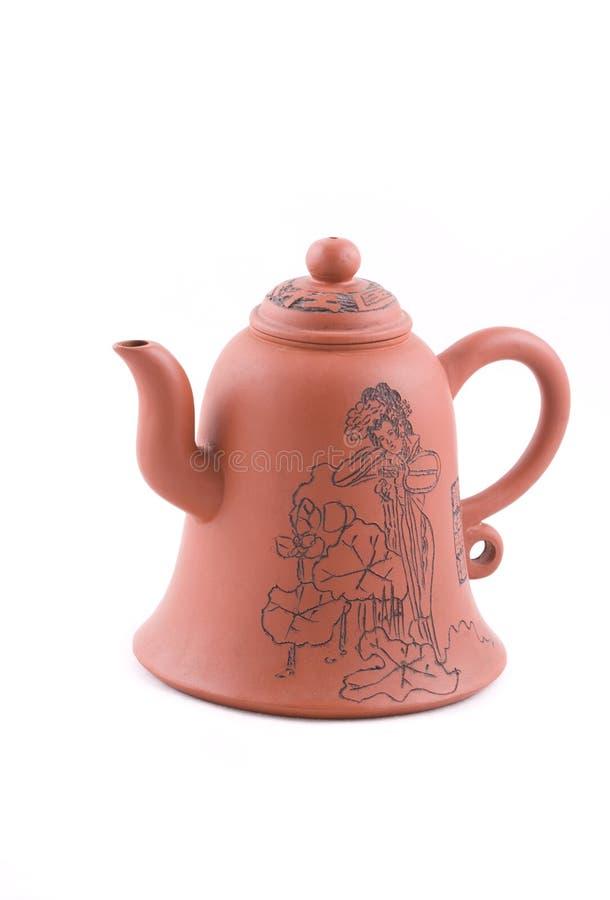 查出的茶壶白色 免版税库存图片