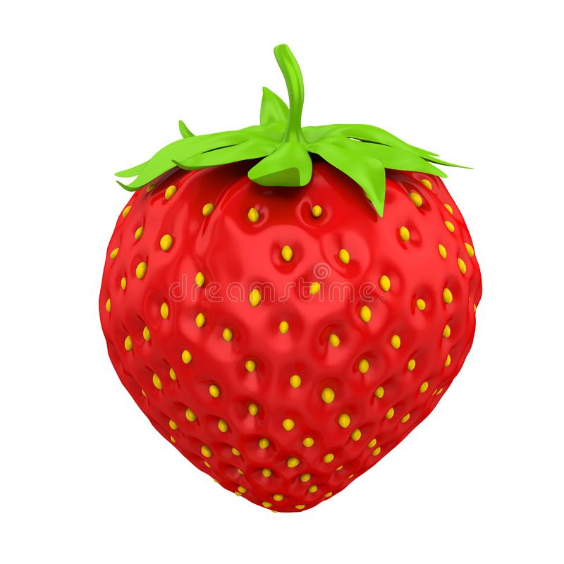 查出的草莓 向量例证