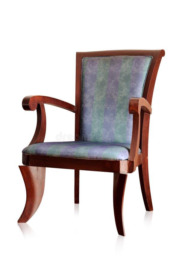 查出的葡萄酒椅子 免版税库存照片