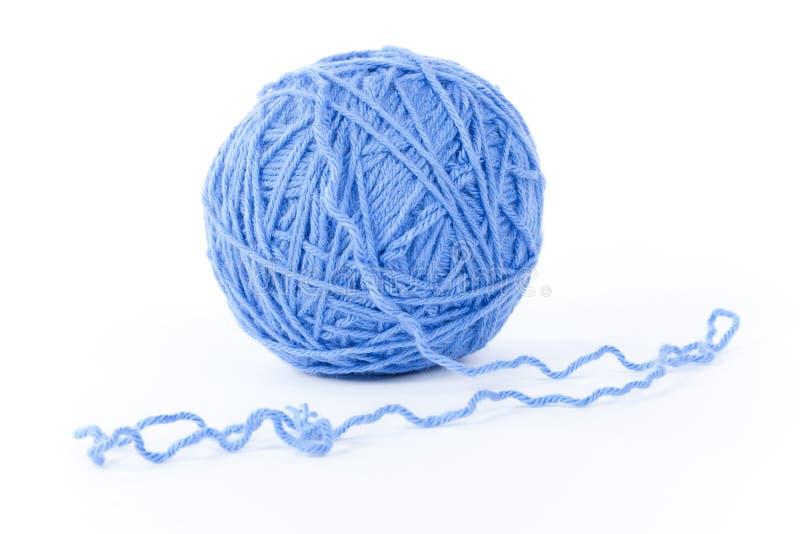 查出的蓝色毛纱 图库摄影