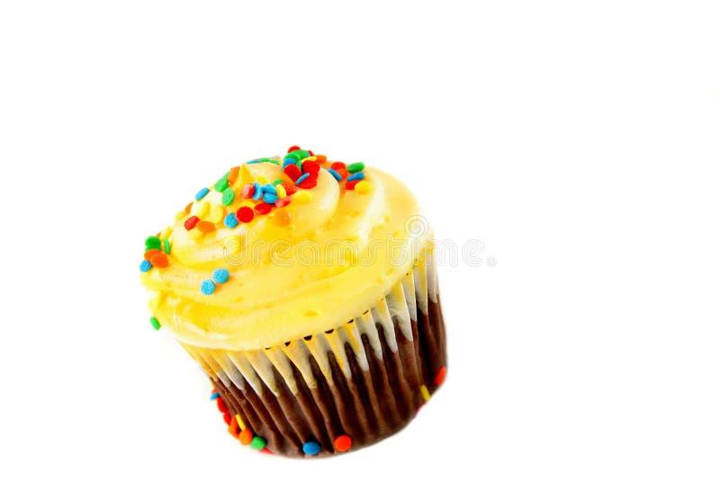 查出的蛋糕杯子 免版税库存照片