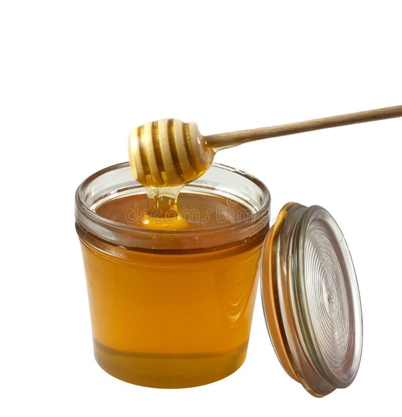 查出的蜂蜜 免版税库存照片