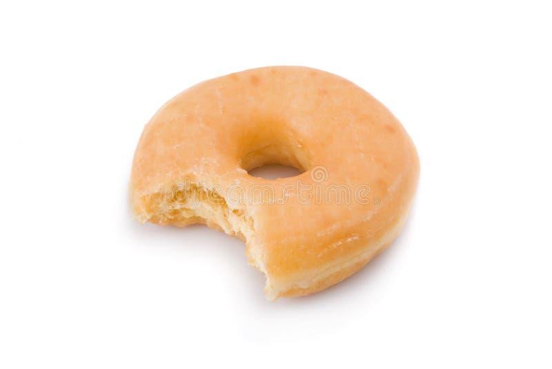 查出的被咬住的多福饼多福饼 免版税库存图片