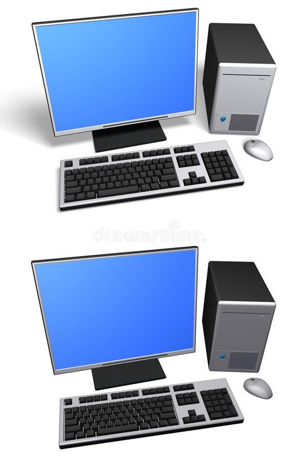 查出的计算机桌面 向量例证