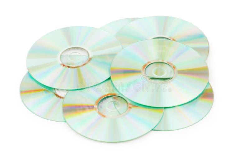 查出的许多CDs 库存图片