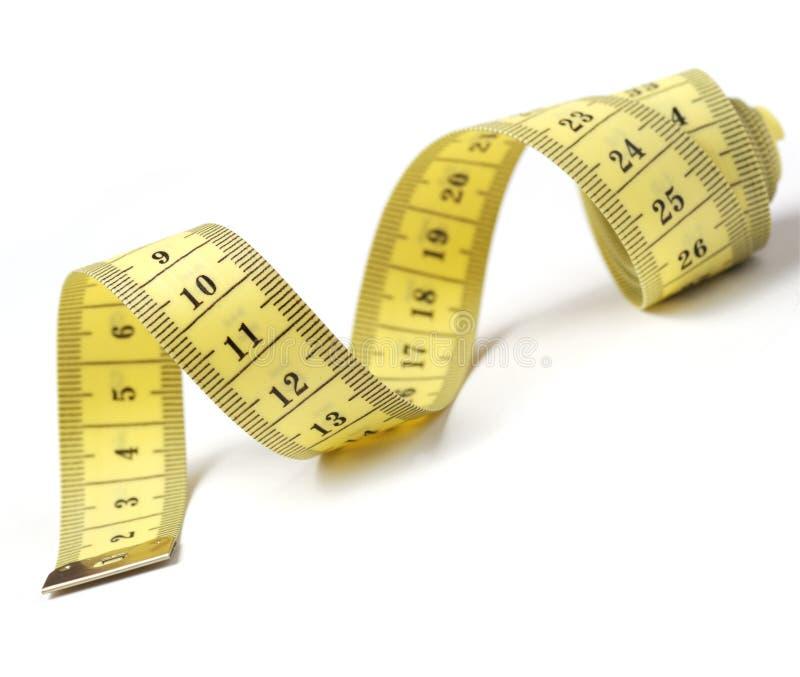 查出的评定的裁缝磁带 免版税库存照片