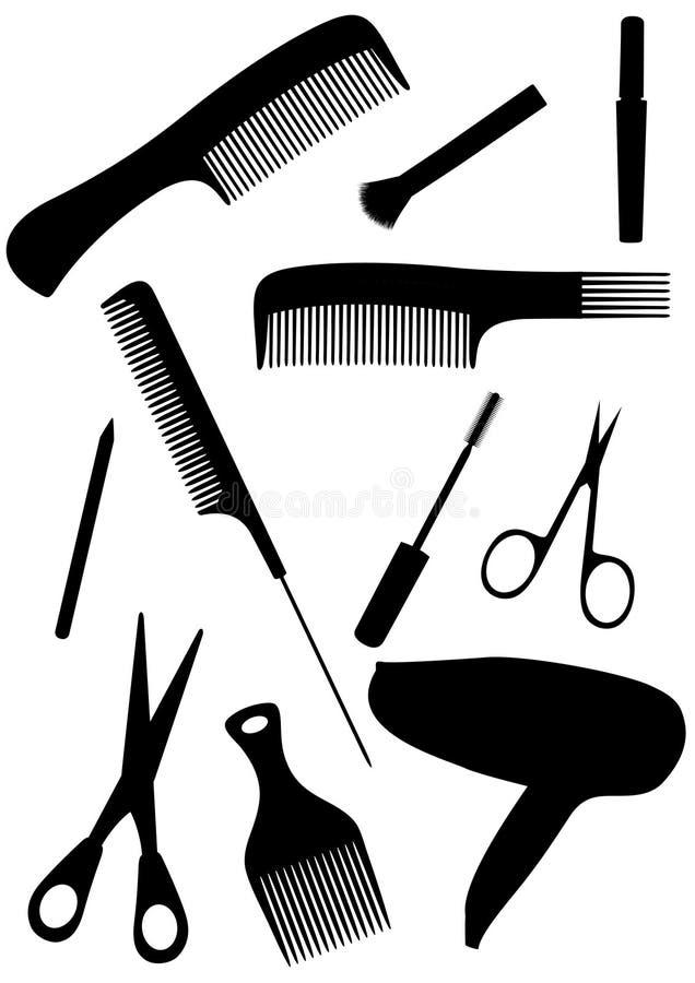 查出的详细头发反对样式 向量例证