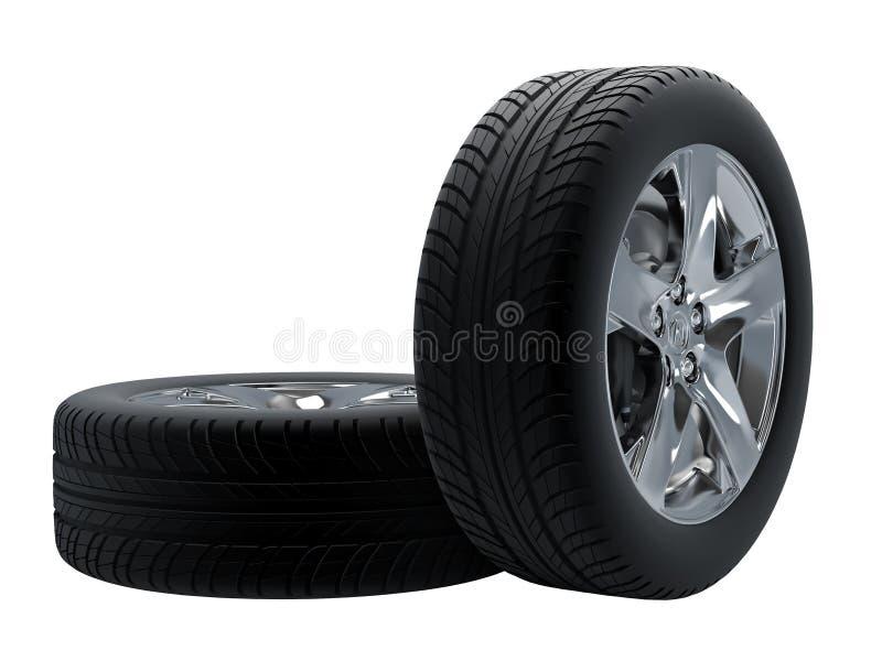 查出的轮胎 库存例证