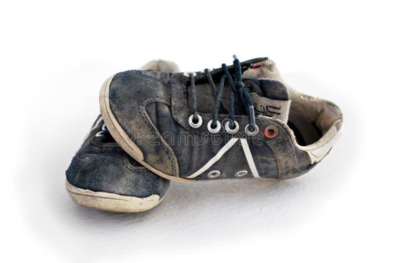 查出的运动鞋使用了白色 库存照片