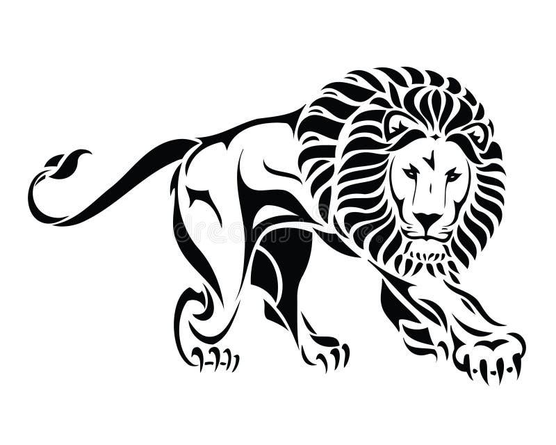 查出的部族狮子纹身花刺 皇族释放例证