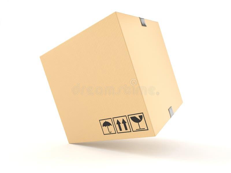 查出的配件箱纸板遮蔽白色 库存例证
