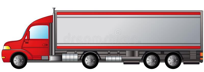 查出的重型卡车 皇族释放例证