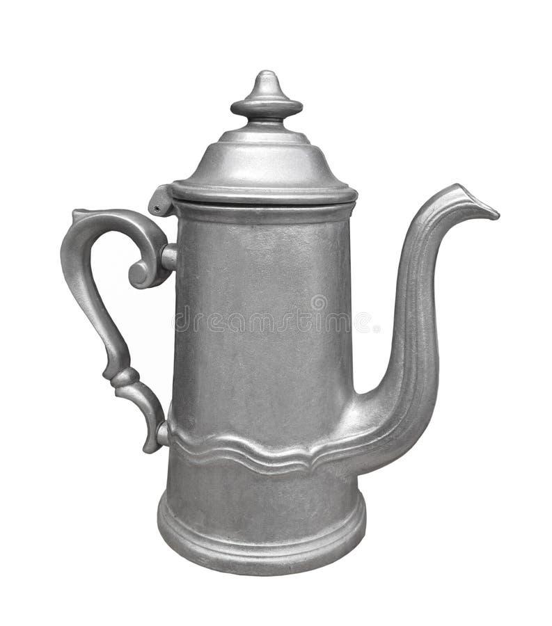 查出的金属奖杯茶壶葡萄酒 库存图片